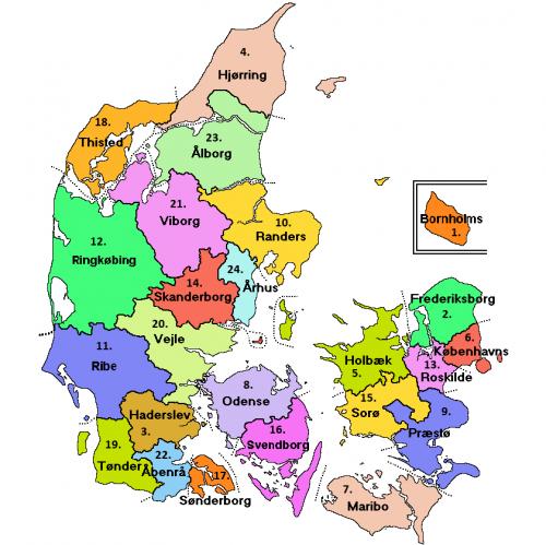 Karta Sodra Danmark.Danmark Wiki Rotter